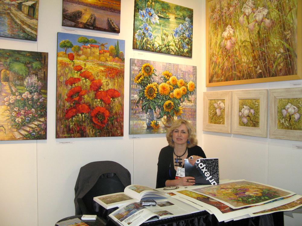 На выставке ARTEXPO. Март 2011. New York. Елена Калашникова