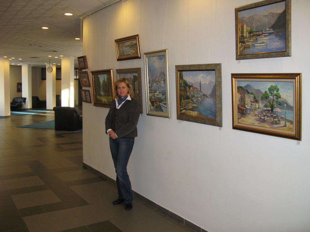 Выставка в залах ООО Газпром. Елена Калашникова