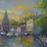 Москва. Вечер на Полянке. х.м. 30х40 2020г.