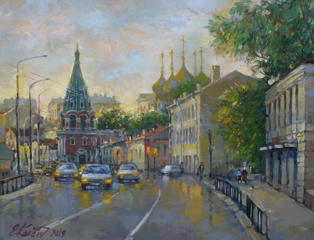 Москва.Вечер на Полянке.х.м. 40х50 2019г.