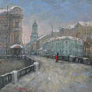 Москва. Вид на Пятницкую улицу. х.м. 50х50 2016г
