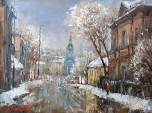 Москва. Январь. х.м. 30х40 2016г
