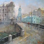 Москва.Пятницкая улица.х.м. 40х40 2015г