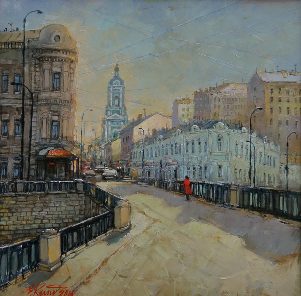 Москва.Вид на Пятницкую улицу. х.м. 50х50 2016г