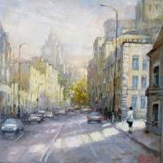 Новослободская улица. Москва х.м. 40х40 2017г