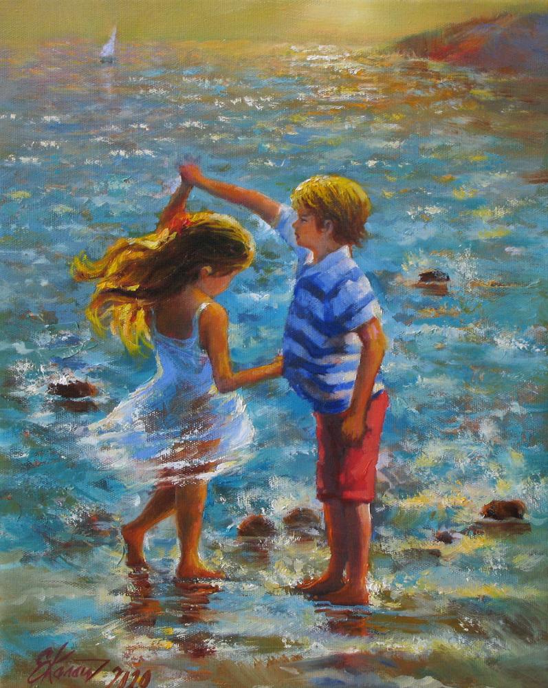 Танец на воде 2. х.м. 30х40 2020г.