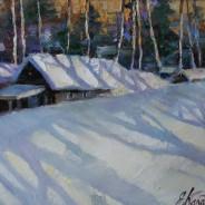 Тени на снегу.х.м. 25х30 2020г.