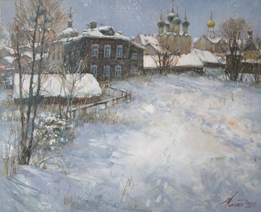 Январь в Ростове Великом.х.м. 45х55 2016г