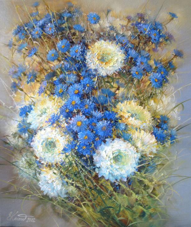 Ноктюрн с хризантемами