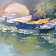 Лодки на Скадорском озере