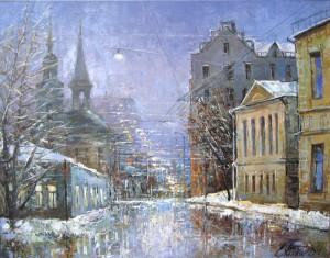 Москва. Вечер на Басманной