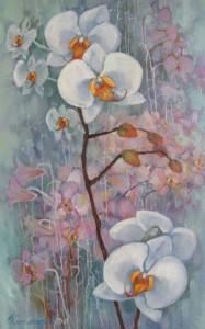 Орхидеи. ц.ч. триптих