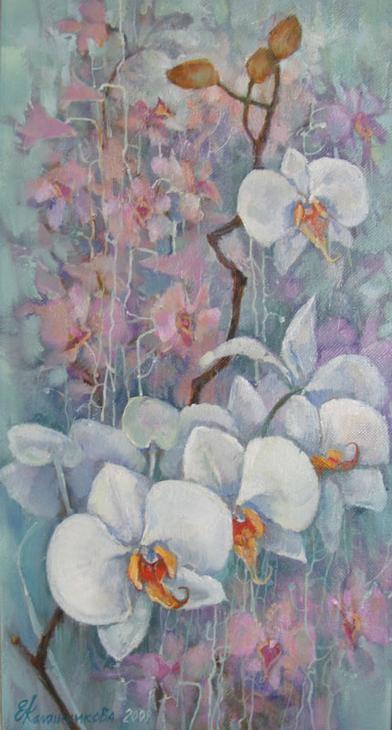 Орхидеи. п.ч. триптих