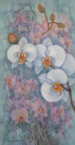 Орхидеи. л.ч. триптих