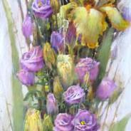 Цветочная кадриль. Левая часть диптиха
