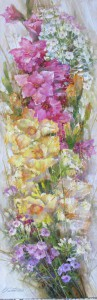 Цветочная кадриль. правая часть диптиха