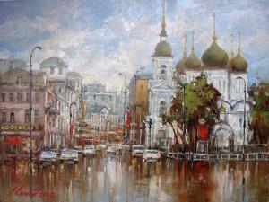 Москва. Вид на Сухаревскую площадь