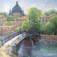 Вид на Троицкий собор. Санкт-Петербург