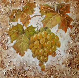 Виноград. х.м. 25х25